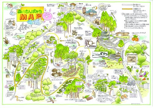 森の散歩道MAP